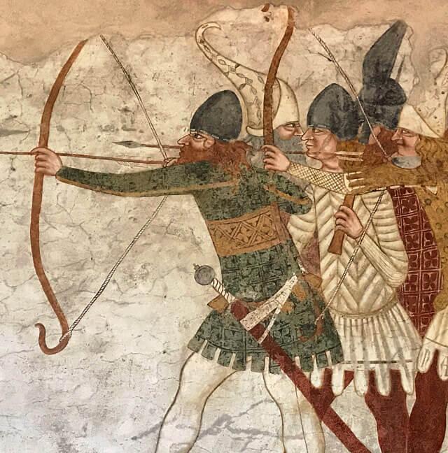 Il Castello di Avio in Trentino conserva stupendi affreschi con scene di battaglie