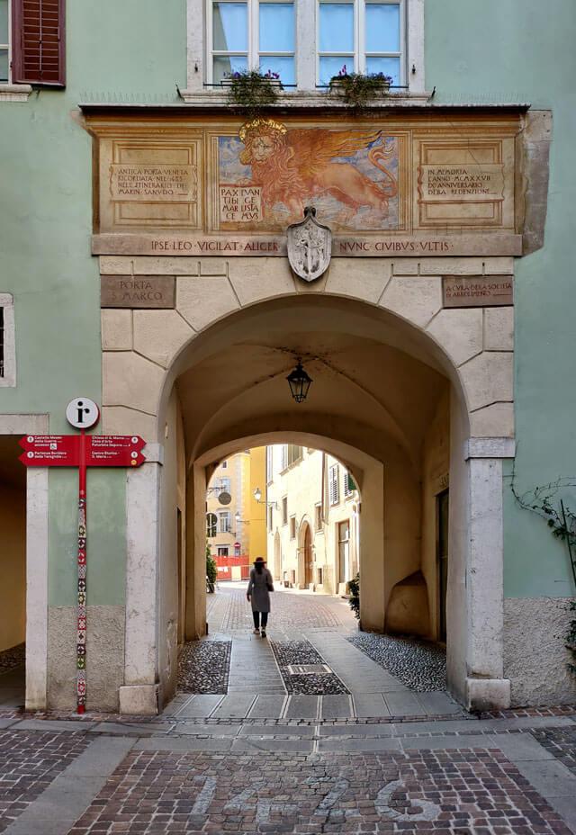 Il centro storico di Rovereto ha scorci bellissimi da vedere