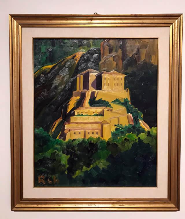 Il Forte di Bard disegnato da Renato Chabod