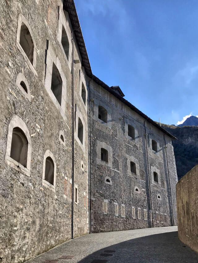 Il Forte di Bard è da vedere in un tour dei castelli della Valle d'Aosta