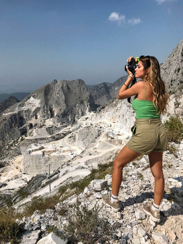 Le cave di marmo di Carrara sono perfetti set fotografici
