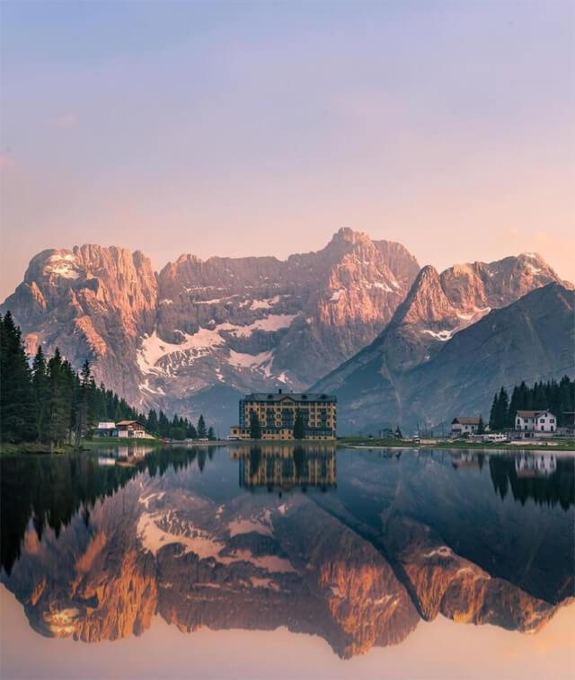 Il Lago di Misurina è uno spettacolo naturale da fotografare in Veneto