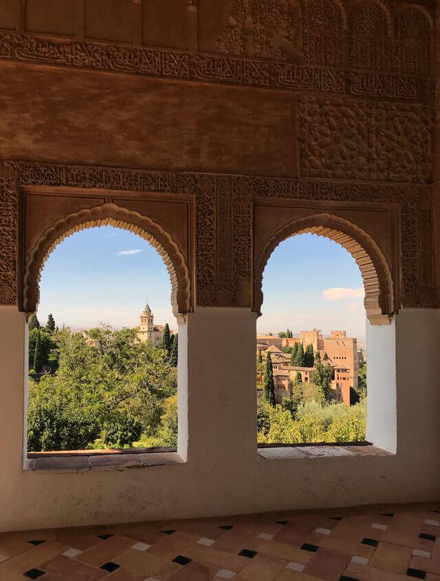 Dal Generalife hai una bellissima vista sull'Alhambra di Granada