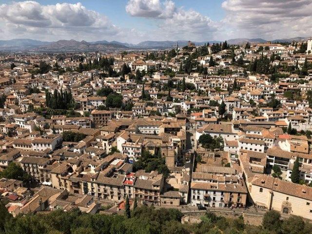 L'Albaicín si vede benissimo dalle torri dell'Alhambra di Granada
