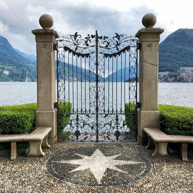 Il cancello sul Lago di Lugano è un punto del Parco Ciani da vedere a Lugano