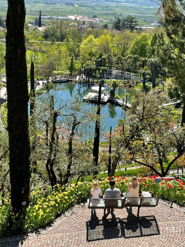 I giardini Trauttmansdorff offrono magnifiche viste nella natura