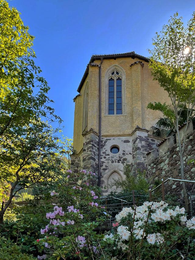 I giardini Trauttmansdorff a Merano sono attorno al castello della nobile famiglia Trauttmansdorff