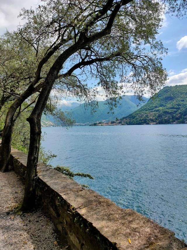Il giardino di Villa Pizzo a Cernobbio è steso lungo il Lago di Como