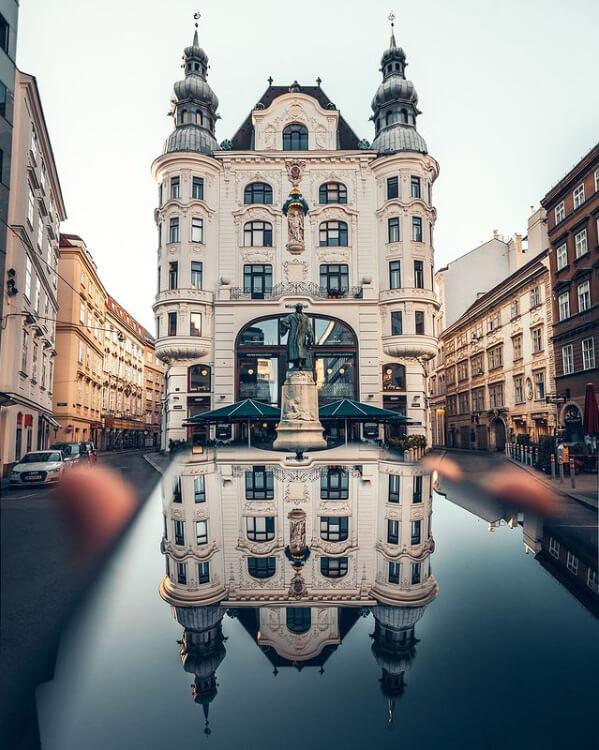 Il Regensburger Hof in piazza Lugeck è una delle foto da fare a Vienna
