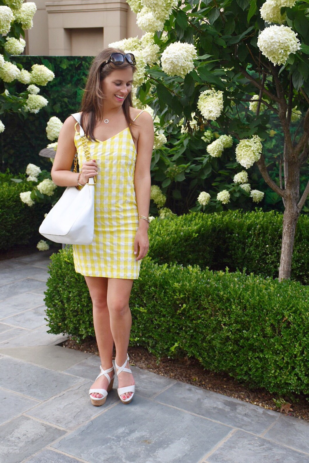 Preppy gingham dress