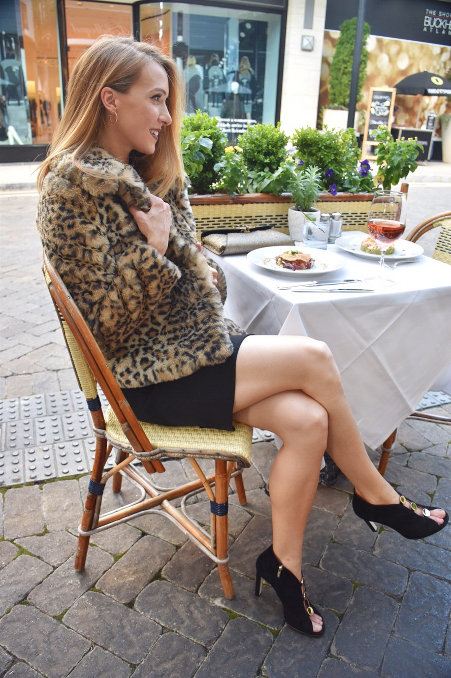 Leopard Print Coat Holiday Outfit