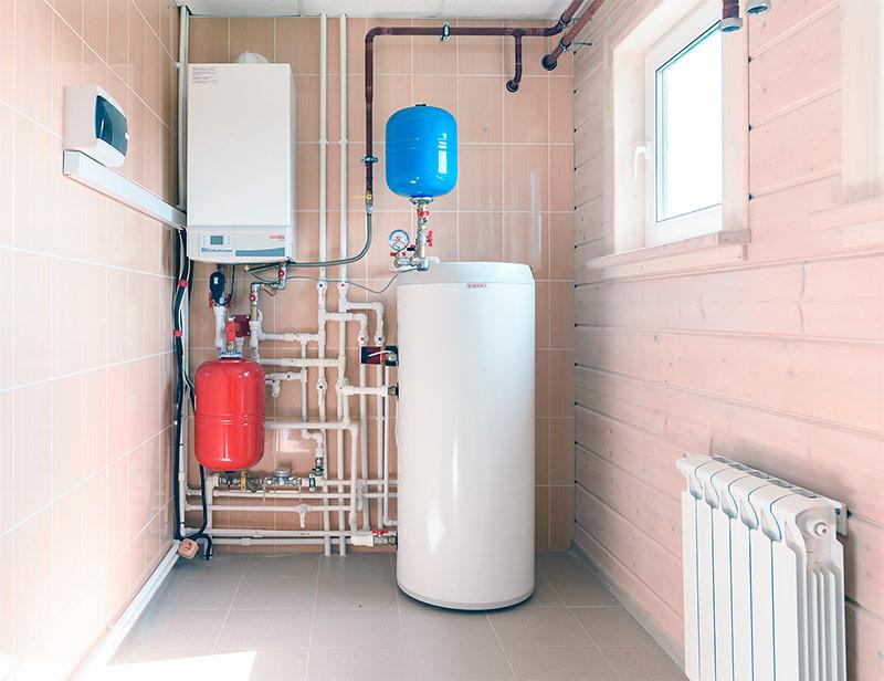 Gasketel met een aparte ketel van indirecte verwarming