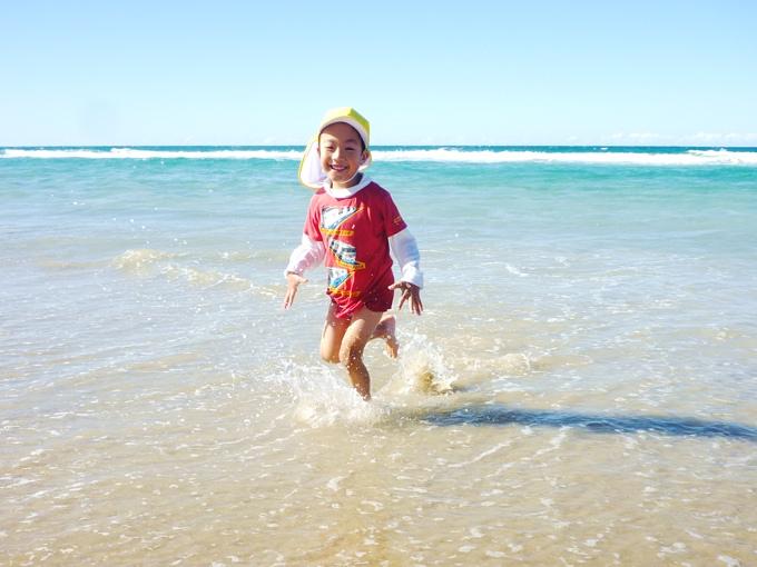 オーストラリア親子留学ゴールドコーストのビーチ