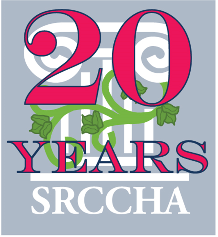 SRCCHA logo with 20 years superimposed