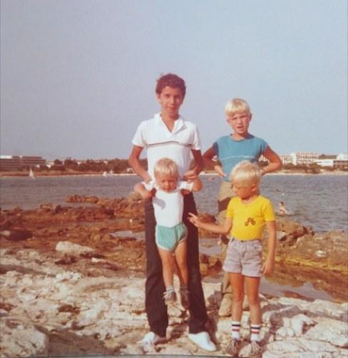 Leto 1984. sa drugarima iz Danske
