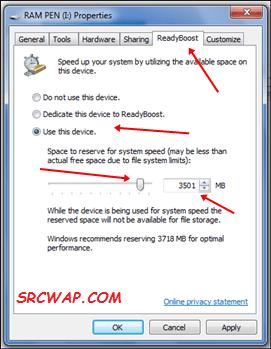 Increase Ram Using ReadyBoost In Windows 7, 8, 10 - 2