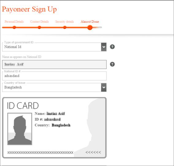Payoneer-Varification