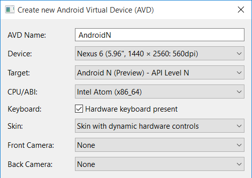 android-n-create-avd