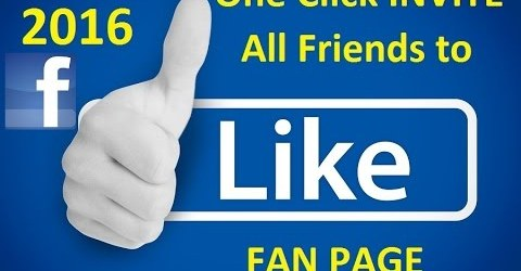 Invite All Friends to Like Facebook Page in 1 Click 2016 1
