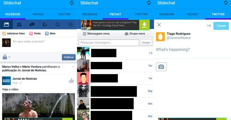How to Use Facebook, FB Chat and Twitter with a Single App on Android device 1