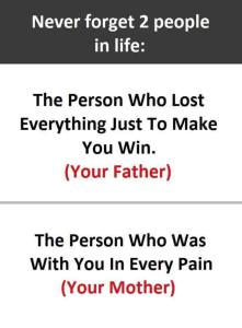Never Forget Two People in life- SARCASM Quotes