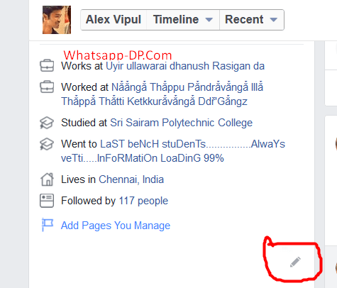 Add Featured Photos on FB (Pencil icon)