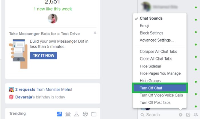 How to Go invisible on Facebook (Hide chat box on Facebook) to stay offline