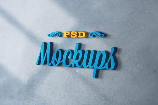 25+ Best 3D Logo Mockup Adobe PSD & Vectors 11