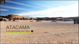 Capture d'écran du menu d'accueil d'Atacama