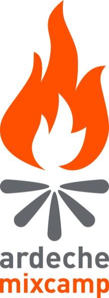 Logo Ardèche Mix Camp : un feu qui brûle