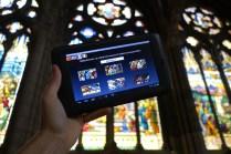 L'écran principal du Vitrailloscope sur tablette