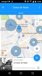 Capture d'écran du parcours sur téléphone