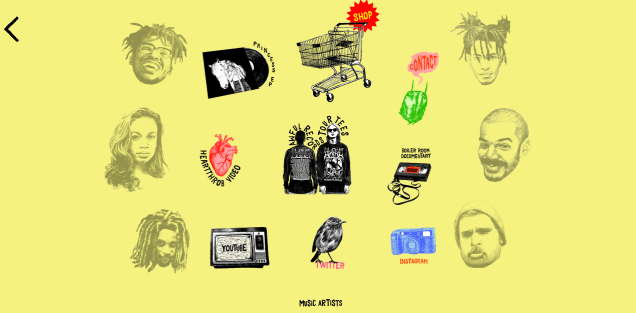 Page d'accueil du site Awful Records