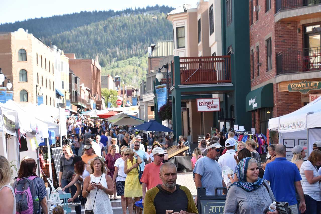 Park City, Utah Main Street crowds