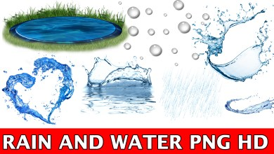 RAIN AND WATER PNG HD