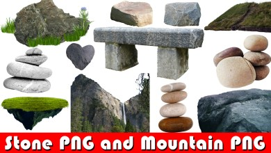 Photo of CB Stone PNG and All New Mountain PNG For photoshop Editing