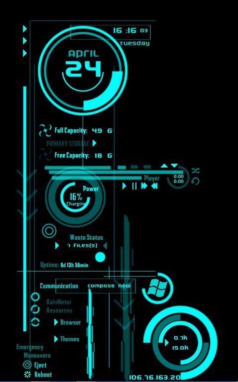 overlay futuristic technology