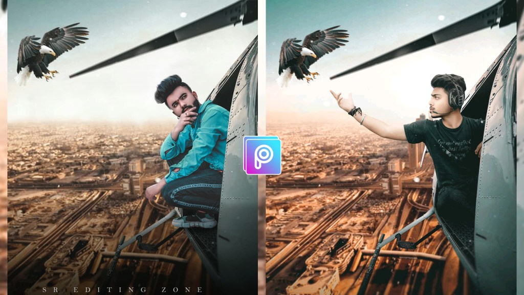 PicsArt helicopter manipulation photo editing tutorial   Best PicsArt Editing
