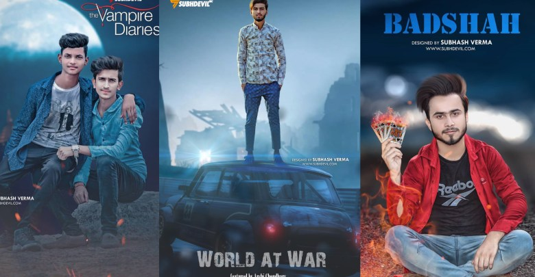 World at war Picsart Movie Poster Editing 2019 | Picsart Photo Editing Tutorial by Subh devil