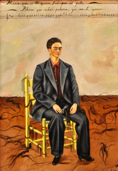 Frida Kahlo - Self Portrait with Cropped Hair - 1943