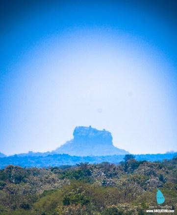 Sigiriya, as seen from Dambulla