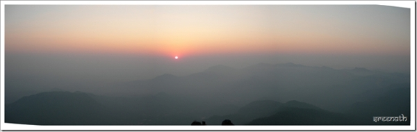 Sunset from Kodachadri Top