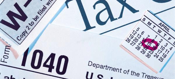 Taxes due April 15