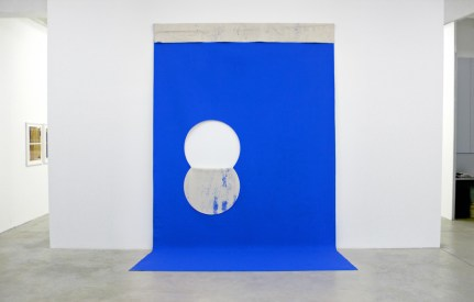 Eclipse, 2011, bluescreen paint on cut canvas, 428 x 236 cm