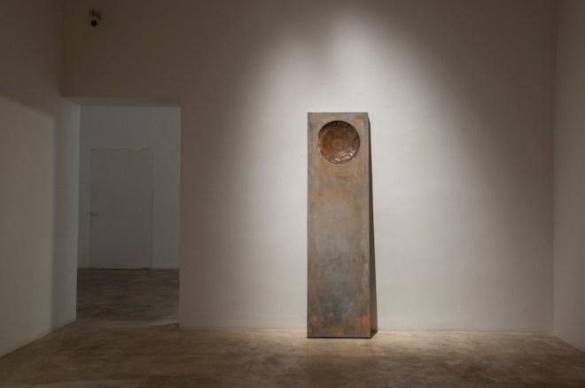 Gradient cast concrete, iron 60cms x 180cms x 7.5cms 2013