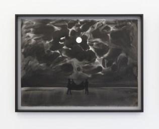 Eclipse, Sumi Ink on Paper Tryptich, 56 X 76cm each © Sreshta Rit Premnath, 2019