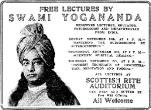 Paramahansa SF Chronicle Ad in 1924