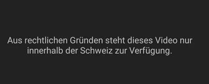 Aus rechtlichen Gründen steht dieses Video nur innerhalb der Schweiz zur Verfügung
