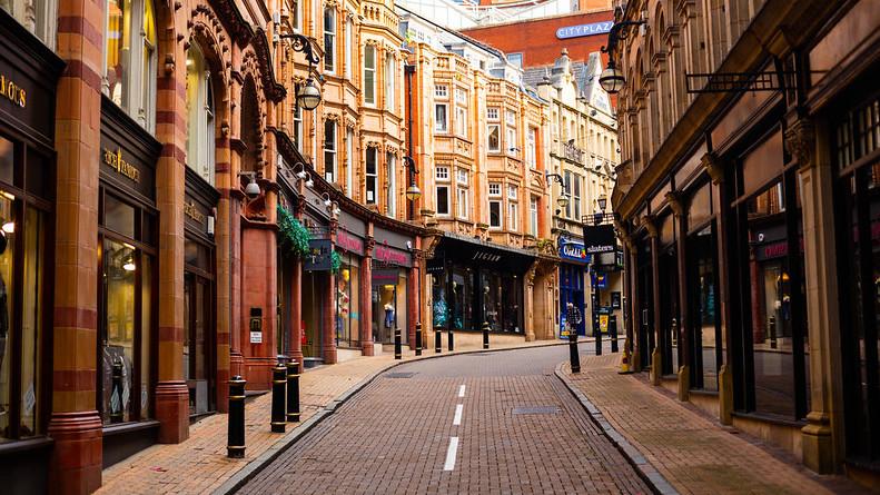 Chris Hoare, Empty Streets of Birmingham, https://www.flickr.com/photos/u07ch/29251553196