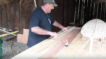 Wood Surfboard Shaping: Bending Wood